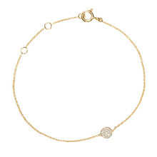Diamond Dreamtime Dot Bracelet in Yellow Gold