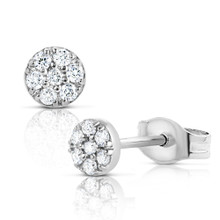 Daisy Dot Diamond Earrings White Gold
