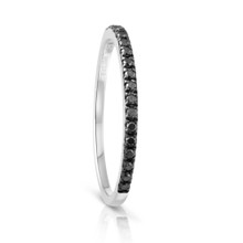 Infini Black Diamond Eternity Ring in White Gold