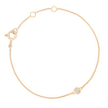 Diamond Solitaire Bracelet in Yellow Gold