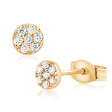 Daisy Dot Diamond Earrings Yellow Gold
