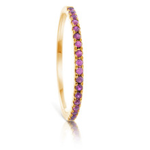 Infini Ruby Eternity Ring in Yellow Gold