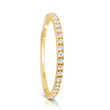 Infini Diamond Eternity Ring in Yellow Gold