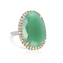 The Aventurine Cocktail Ring with Yellow Sapphires