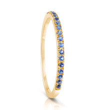 Infini Blue Sapphire Eternity Ring in Yellow Gold