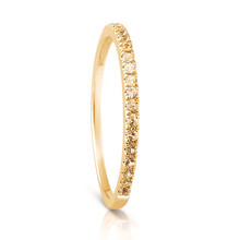 Infini Yellow Sapphire Eternity Ring in Yellow Gold