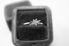 'In the Stars' Petite Diamond Ring in White Gold