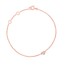 Bambino Diamonds Heart Bracelet in Rose Gold