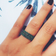 Infini Emerald Eternity Ring in White Gold