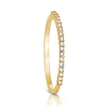 Petite Diamond Eternity Ring in Yellow Gold