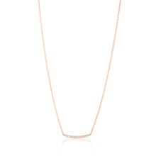 Diamond Bar Necklace set in Rose Gold