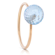 Sky Blue Topaz Gem Pop Ring