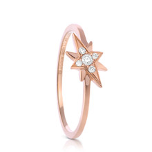 Starburst Diamond Ring in Rose Gold