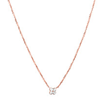 Diamond Snowflake Necklace in Rose Gold