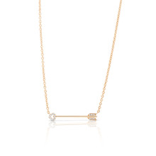 Straight to the Heart  Diamond Arrow Necklace Yellow Gold