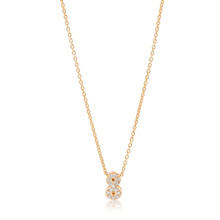 SALE Lucky No. 8 Diamond Yellow Gold Necklace 14k Gold