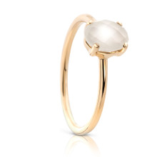 Aura Oval Moonstone GemStone Yellow Gold Ring