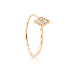 SALE Diamondesque Ring Yellow Gold