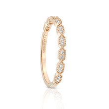 Diamond Deco Ring Yellow Gold