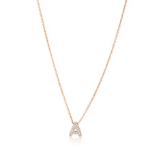 3D Diamond Letter Monogram Necklace Yellow Gold