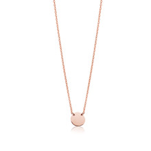 Petite Disc Necklace set in Rose Gold