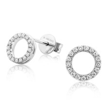 Diamond Eclipse White Gold Earrings
