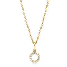 Diamond Eclipse Necklace Yellow Gold