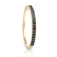 Aeon Black Diamond Yellow Gold Ring