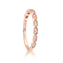 Diamond Deco Ring Rose Gold