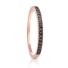 Aeon Black Diamond Rose Gold Ring