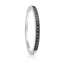 Aeon Black Diamond White Gold Ring