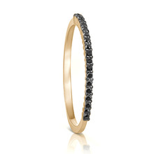 Petite Black Diamond Eternity Ring in Yellow Gold
