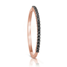 Petite Black Diamond Eternity Ring in Rose Gold