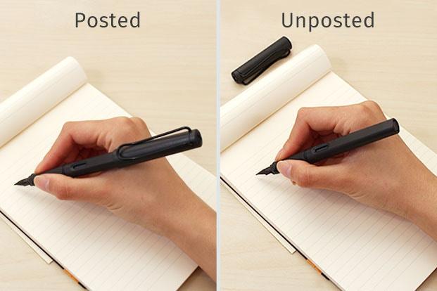 Quyết định bạn muốn gắn nắp hay không gắn nắp khi viết
