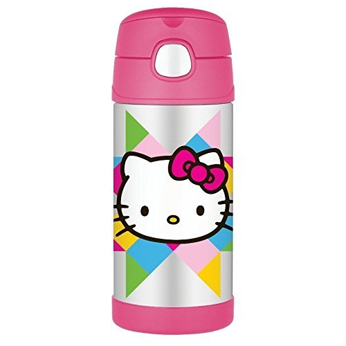 Bình giữ nhiệt cho bé Thermos Funtainer 12 Ounce Bottle, Hello Kitty 350 ml