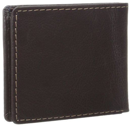 Ví nam Tommy Hilfiger Men's Leather Logan Double Billfold Wallet - Màu nâu