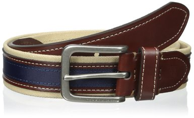 Dây lưng nam Tommy Hilfiger Men's 35mm Canvas and Ribbon Belt - Size 34