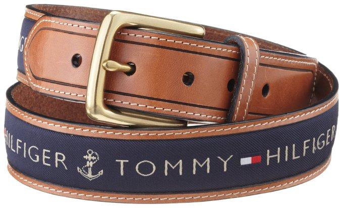 Dây lưng nam Tommy Hilfiger Men's Ribbon Inlay Belt - Size 34