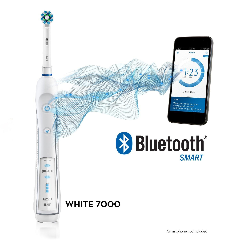 Bàn chải điện Oral B 7000 White Bluetooth