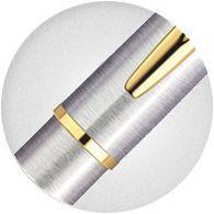 Nắp Bút Waterman Hemisphere Essential Gold Trim Stainless Steel S0920330