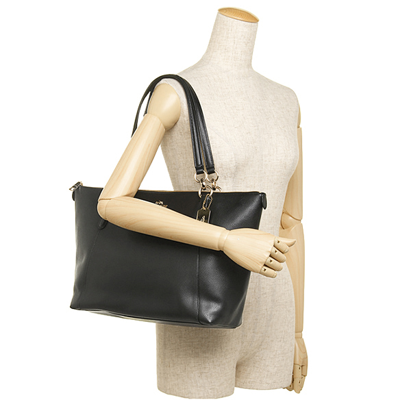 Túi Coach da mềm Coach bags outlet cross grain leather Ava Tote Bag Black F35808 IMBLK- Chính hãng