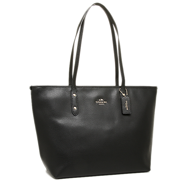 Coach bags outlet cross-grain leather city zip top Tote Bag Black F36875 IMBLK  - Chính Hãng