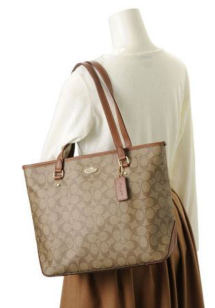 Túi Coach Signature Zip Top Tote Bag  F34603 IMBDX