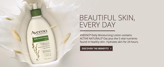 Làn da đẹp với kem dưỡng ẩm Aveeno