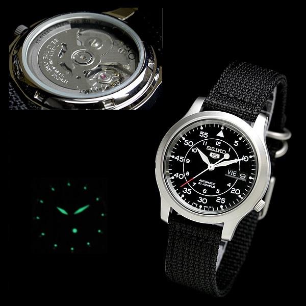 Cơ chế hoạt động đồng hồ Seiko 5 SNK809 (SNK809K2)