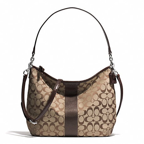 Túi Coach Signature Stripe Convertible Hobo  F29941 SKHMA