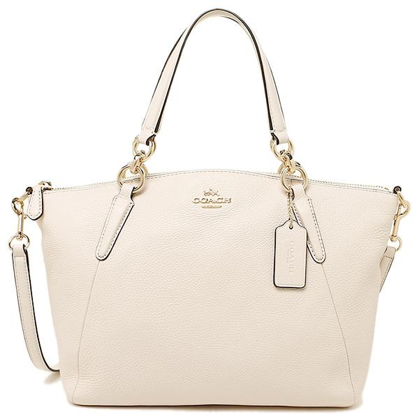 Túi Coach da mềm Coach bags outlet COACH F36675 IMCHK Pebble leather small Kelsey satchel 2WAY bags chalk - Chính hãng