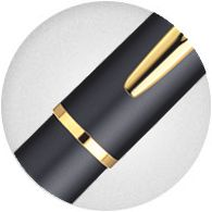 Kẹp bút Waterman Hemisphere Gold Trim Fountain Pen Matte Black