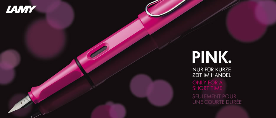 Ngòi bút lamy safari màu hồng