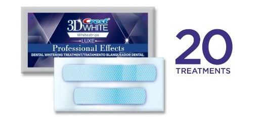 Miếng dán trắng răng Crest 3D White với 20 lần dùng